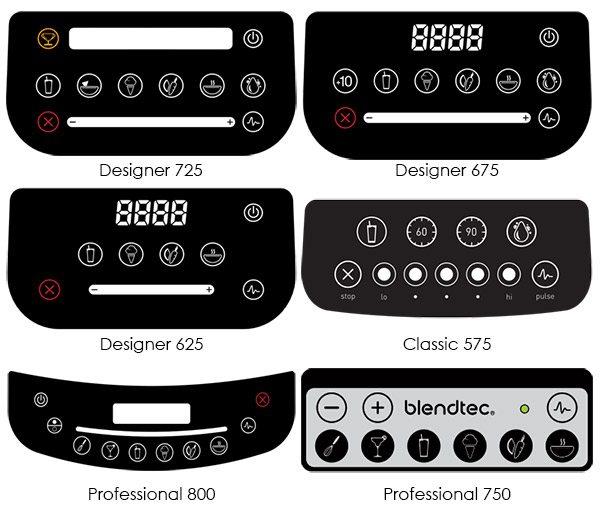 Blendtec controls