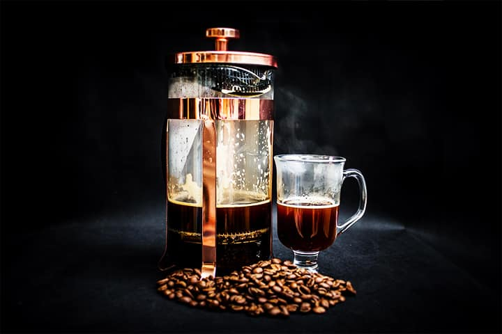 Drink water while coffee is brewing