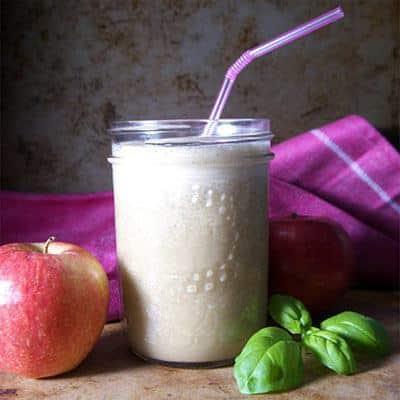 Apple Basil Vegan Smoothie