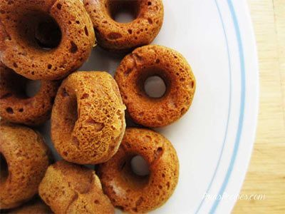 Mini Cinnamon Pumpkin Doughnuts