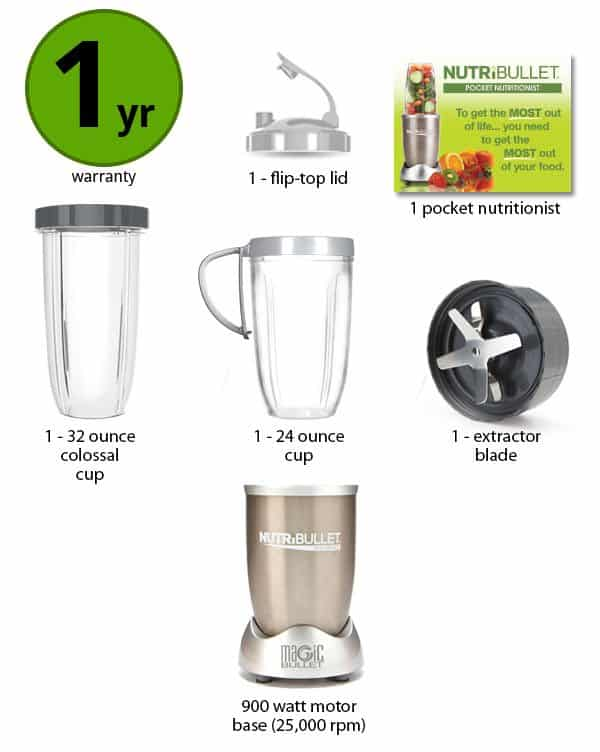 Nutribullet Pro Features