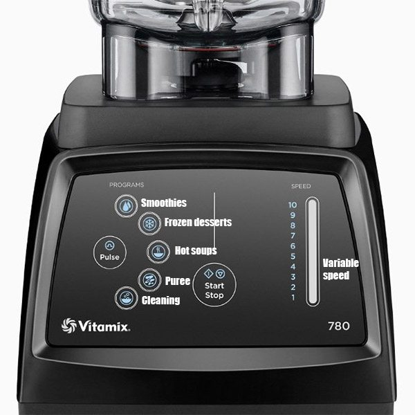 Vitamix 780 Controls