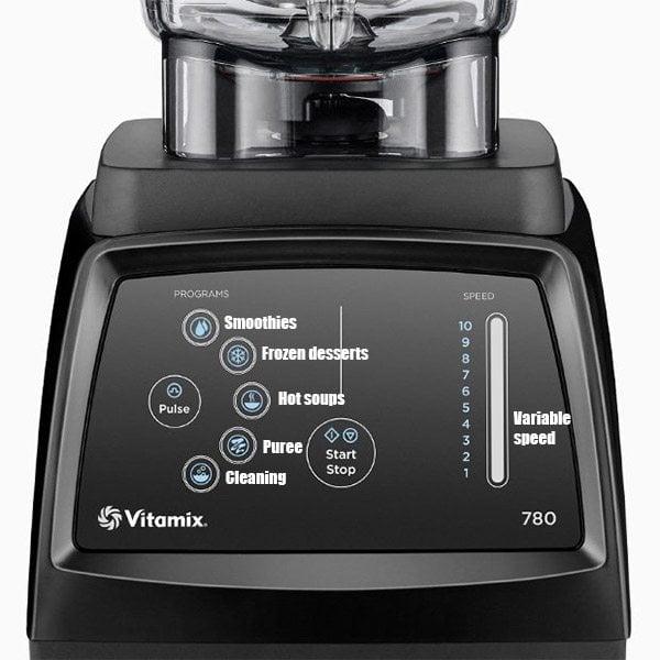 Vitamix 780 Controls